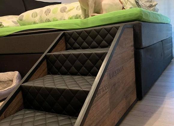 Hundetreppen 4 Stufig für Betten  / Vintage Look