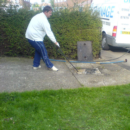 Garden Barber Drainage Jetting a blocked sewer