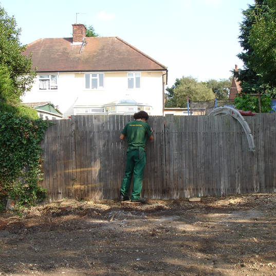 Inspecting the fence