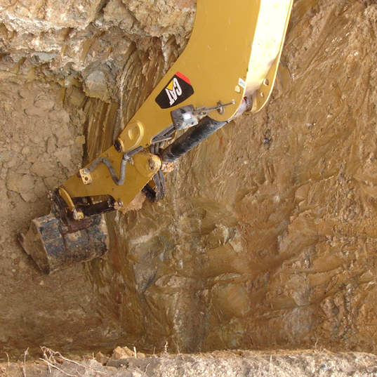 deep excavation for a saok-away in Hertford