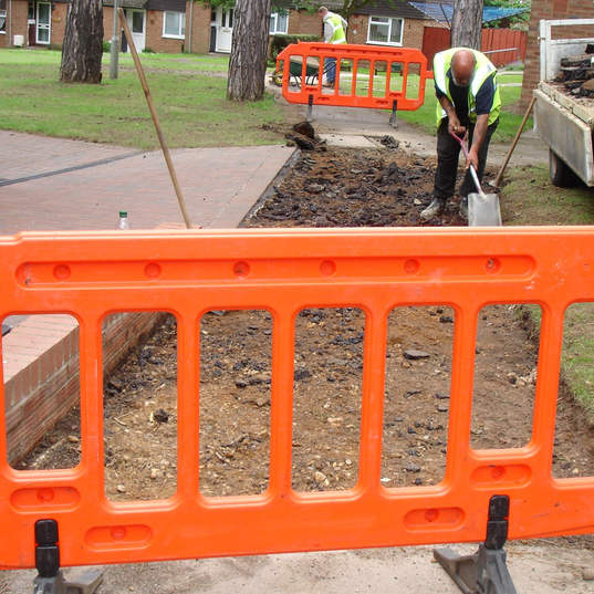 Laying new paths taking care of public safety