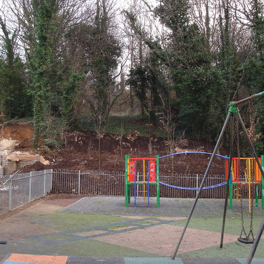 Public play areas landscaped