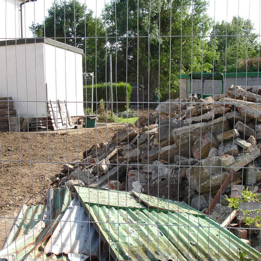 Site fencing and rubble removal