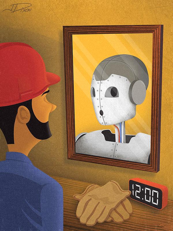 Mirror, Mirror on the Wall - Jim Dixon Illustration