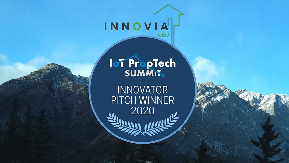 Innovia GEO was the winner of the Innovator Pitch competition at the IoT PropTech Summit in 2020