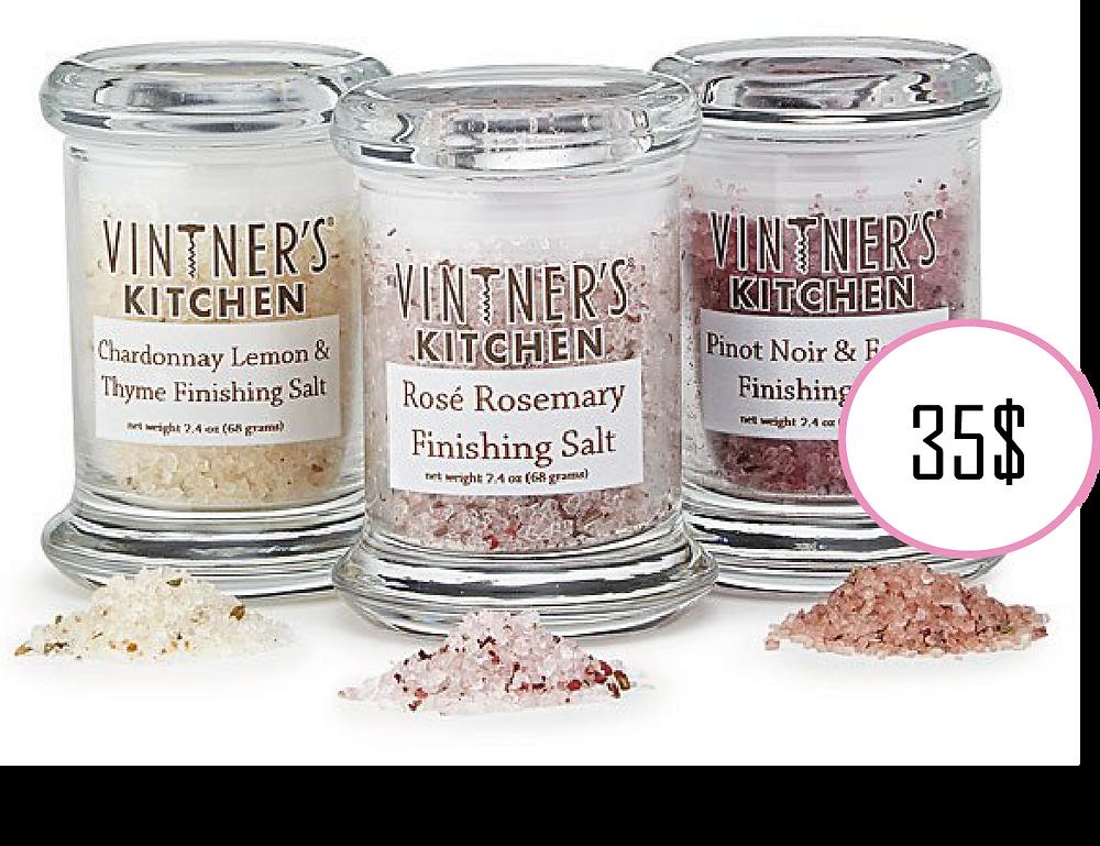 Set of 3 Wine-Infused Salts