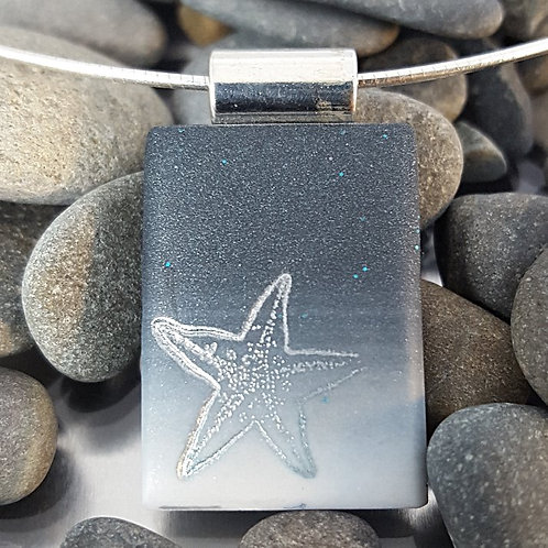 Ocean's Night Sea Star Pendant
