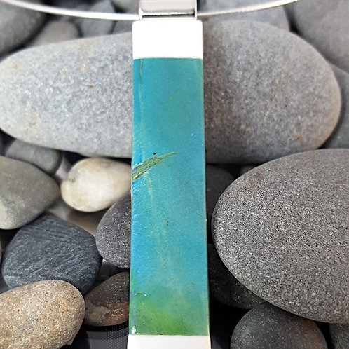 Blue-Green Algae Inset Pendant