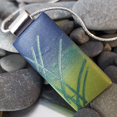 Deep Summer Dune Grass Pendant