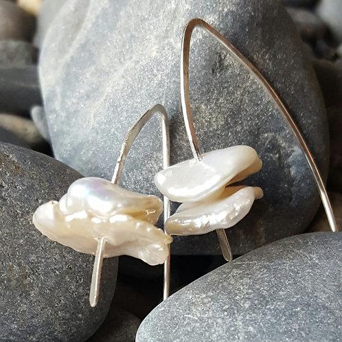 Cornflake Pearl Earrings