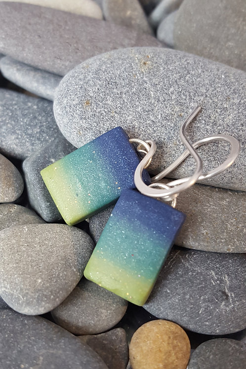 Deep Summer Grass Earrings - SOLD OUT - Contact me for custom order