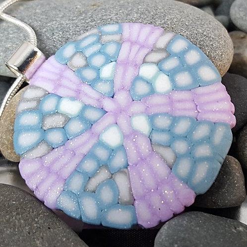 Purple and Blue Sand Dollar Pendant
