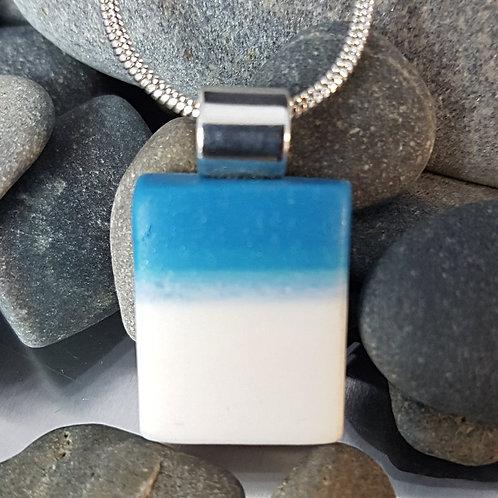 Blue & White Caldera Pendant