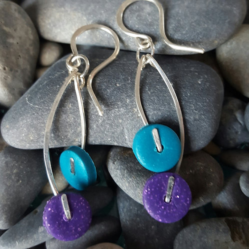 Double Dot Earrings (Custom Colors)