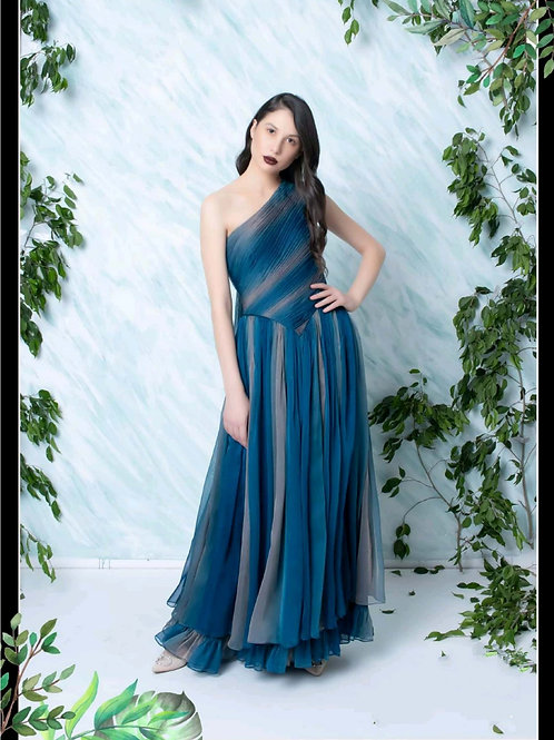 Blue Graded Gown