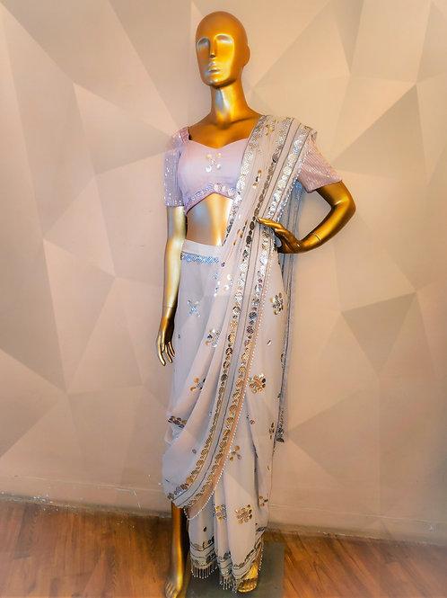 Drape Saree with Blouse