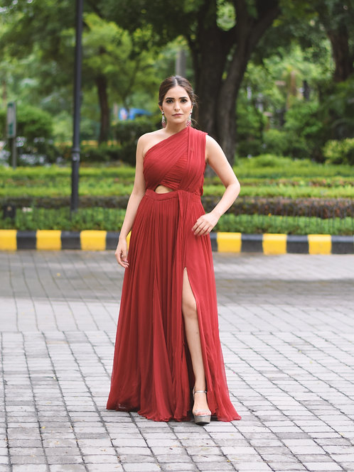 Sonam Chhabra in Red Gown