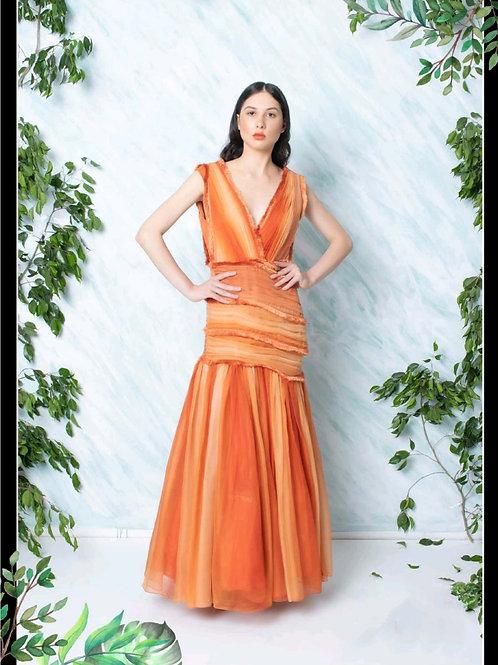 Orange Graded Dress