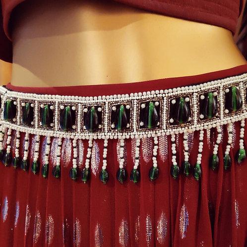 Emerald Bejewelled Belt