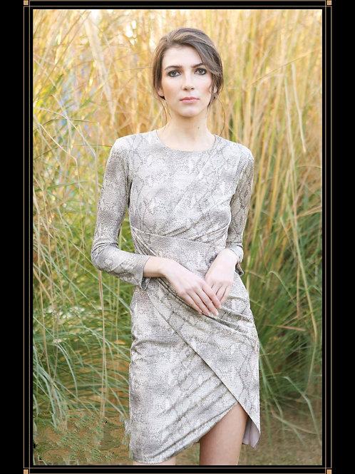 Printed Asymmetrical Dress