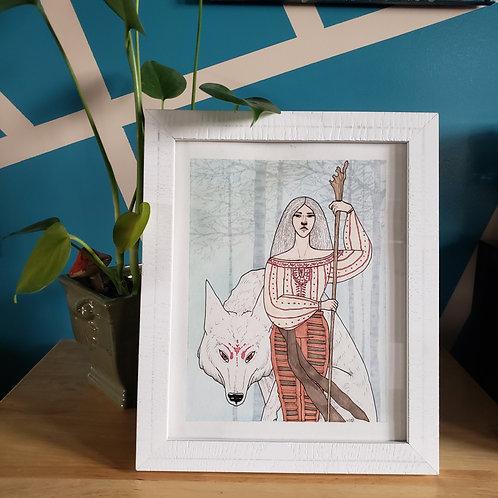 She-Wolf Original Framed Artwork