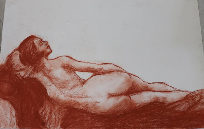 Study of a Woman on a Daybed