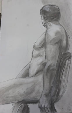 Study of a Man in a Chair
