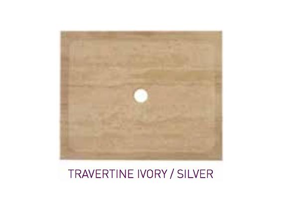 Receveur douche Travertin Ivory/Silver