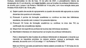 CONCURSO de Professor Bibliotecário