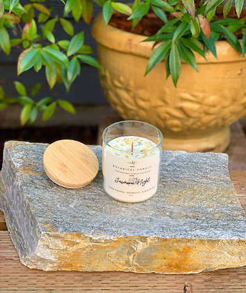 """Jasmine Night"" Botanical Candle Collection"