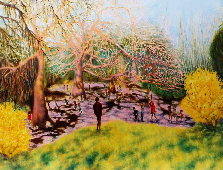 Krilova Woodlands 200x160cm oils on canv