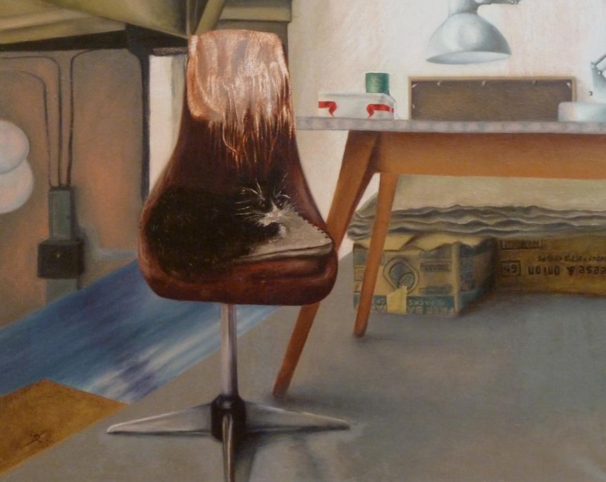 i chair oil on linen