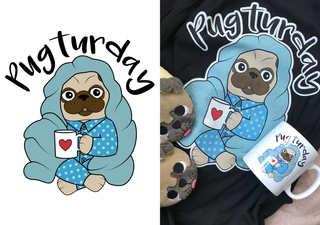 Pugturday - Pug Doggy Dog