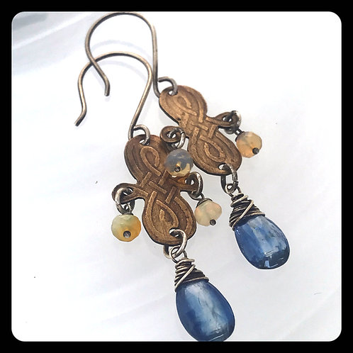 Bronze Viking Knot Earrings