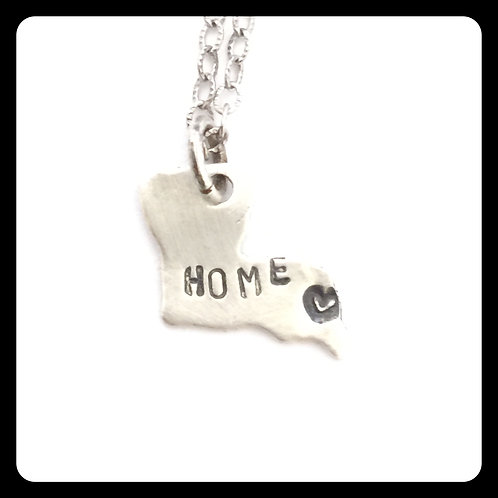 "New Orleans Louisiana State Pride Necklace ""home"""