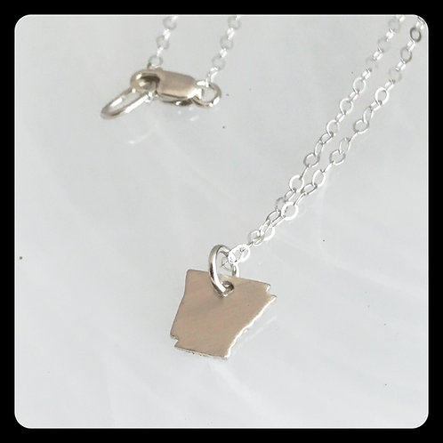 Arkansas State Necklace sterling silver