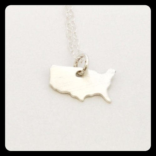 USA Pride Necklace in sterling silver