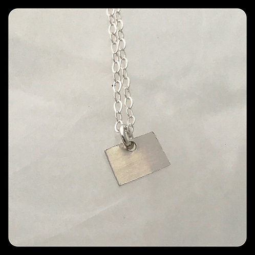 Colorado State Necklace sterling silver