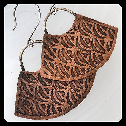 Mermaid Fan Earrings