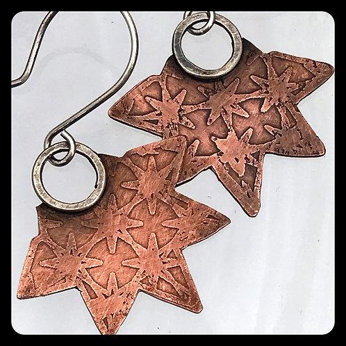 Copper Starburst Earrings
