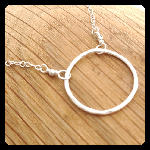 Medium Circle Necklace- Sterling Silver