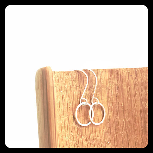 Small Circle Earrings- Sterling Silver