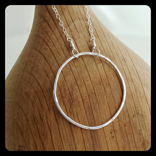 Large Circle Necklace- Sterling Silver