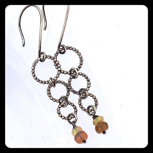 3 Ring Circus Ethiopian Opal Earrings