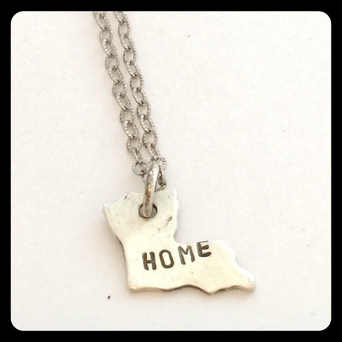 "Louisiana State Pride Necklace ""home"""