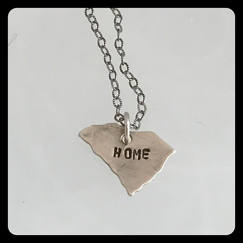 "South Carolina State Pride Necklace ""home"""