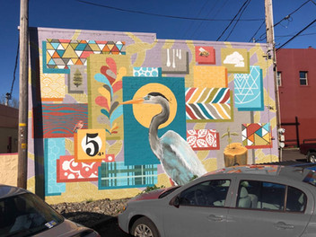 Crane Mural 3rd Street