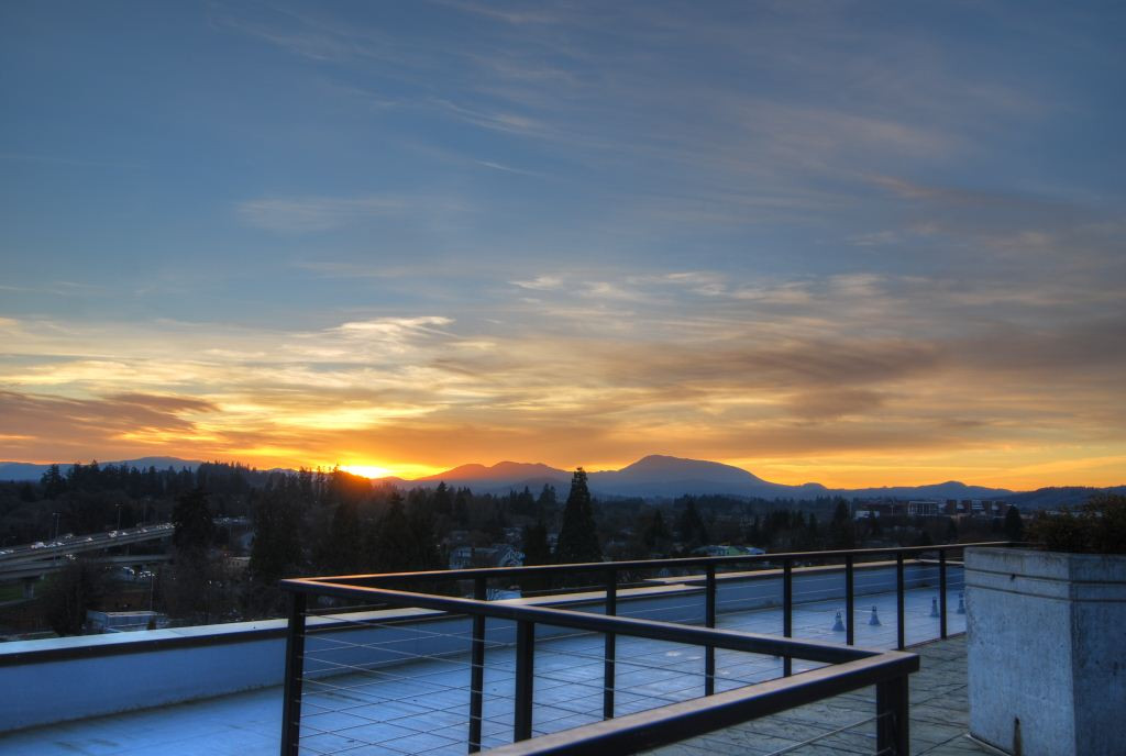 27 Rooftop Sunset Over Coastal Range fro