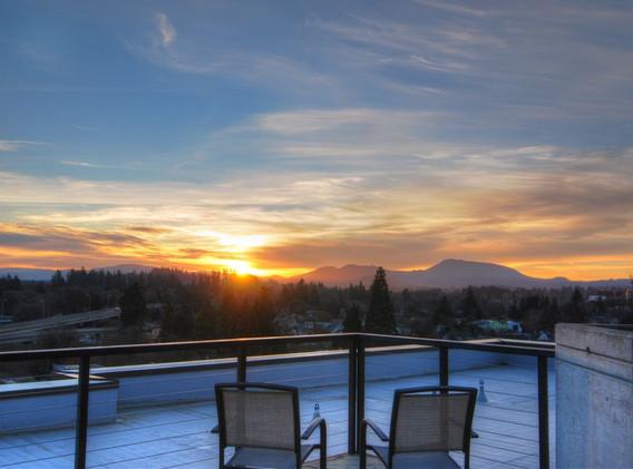 2aa  Rooftop Sunset Over Coastal Mountai