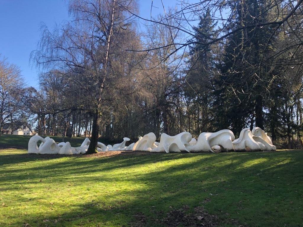 Avery Park dinosaur bones play structure